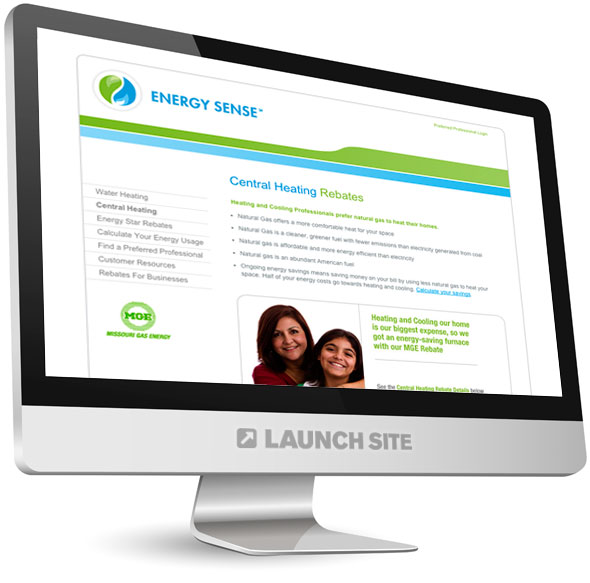 HTML Web Design Missouri Gas Energy 1