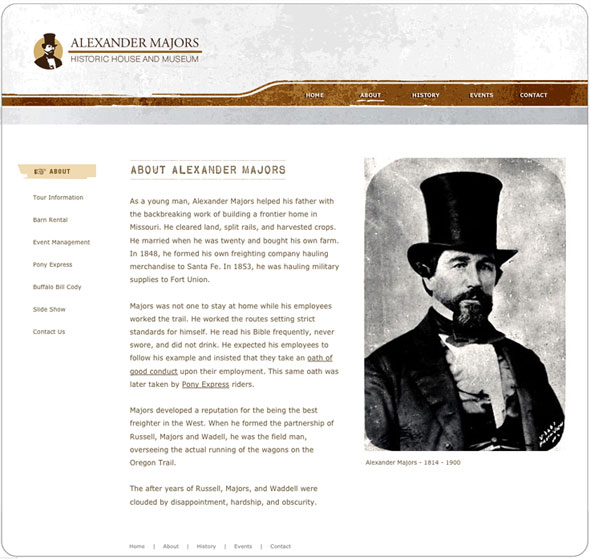 Website Design for Alexander Majors in Kansas City by JDL Studio Design