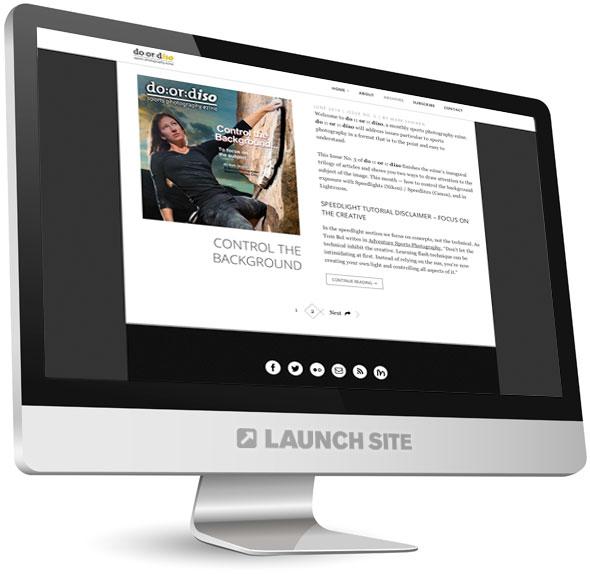 Wordpress Photography Blog Design 1