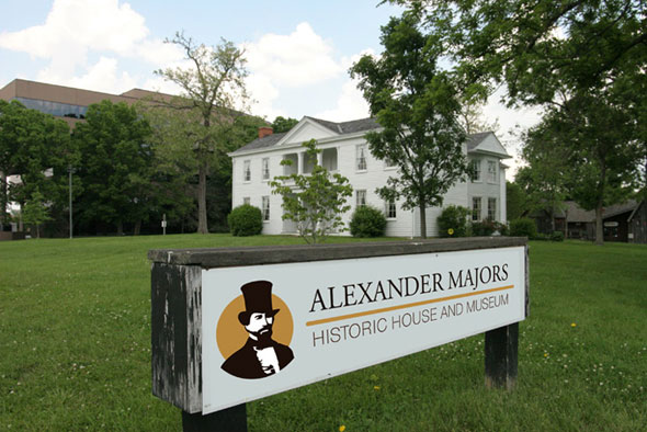 Alexander Majors Road Sign with New Branding
