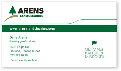 Arens Land Clearing Business Card Design