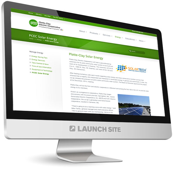 Custom WordPress Design Platte-Clay Electric 3