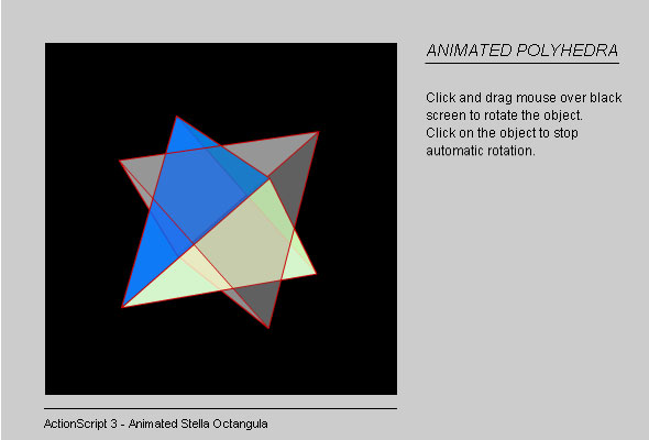 Flash Animated Polyhedra