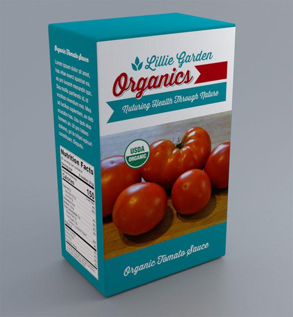 Lillie Garden Organics Package Design Tomato Sauce