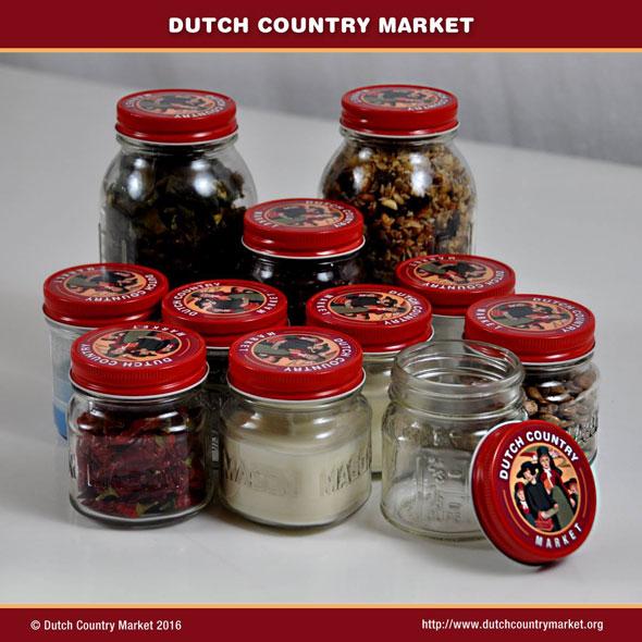 Packaging Design Dutch Country Market Jars by JDL Studio Design